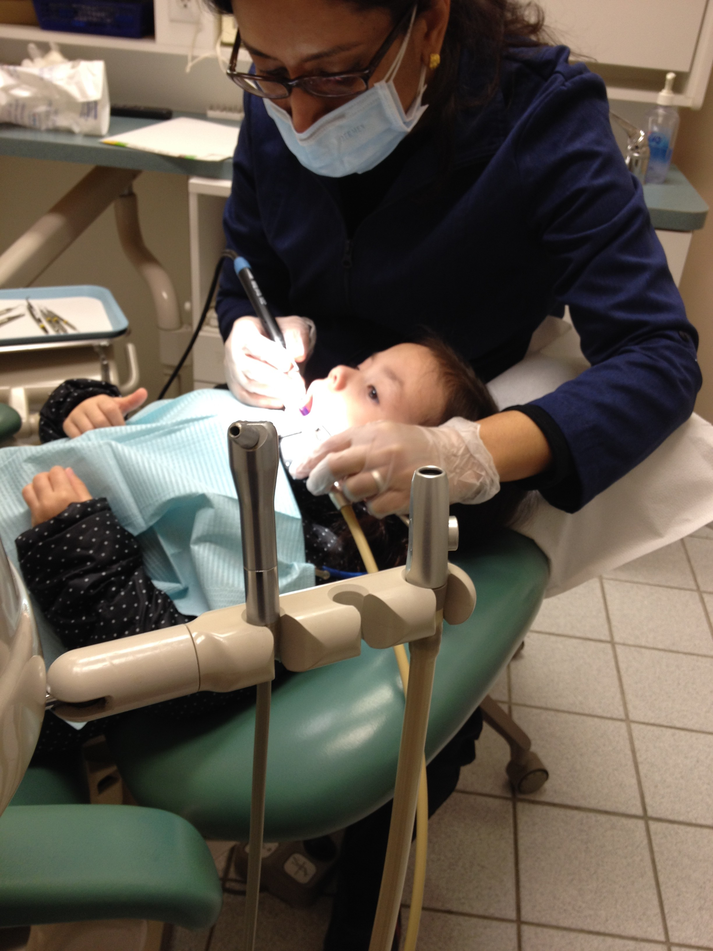 the first visit Your baby is hitting new milestones every day, and his or her first dental visit is another one to include in the baby book your child's first dental visit should take place after that first tooth appears, but no later than the first birthday.