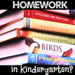 Homework Already in Kindergarten?