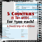 5 Countries in two weeks for $300 each! A family trip of a lifetime.