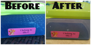 lunch container before and after