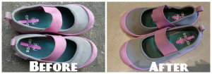 shoes before and after